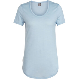 Icebreaker Solace SS Scoop Shirt Dam sky heather